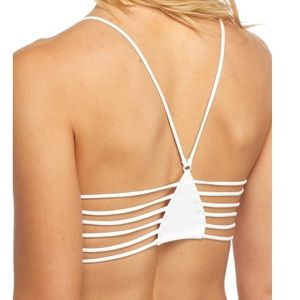 NWT Free People White Strappy Side Bra Bralette